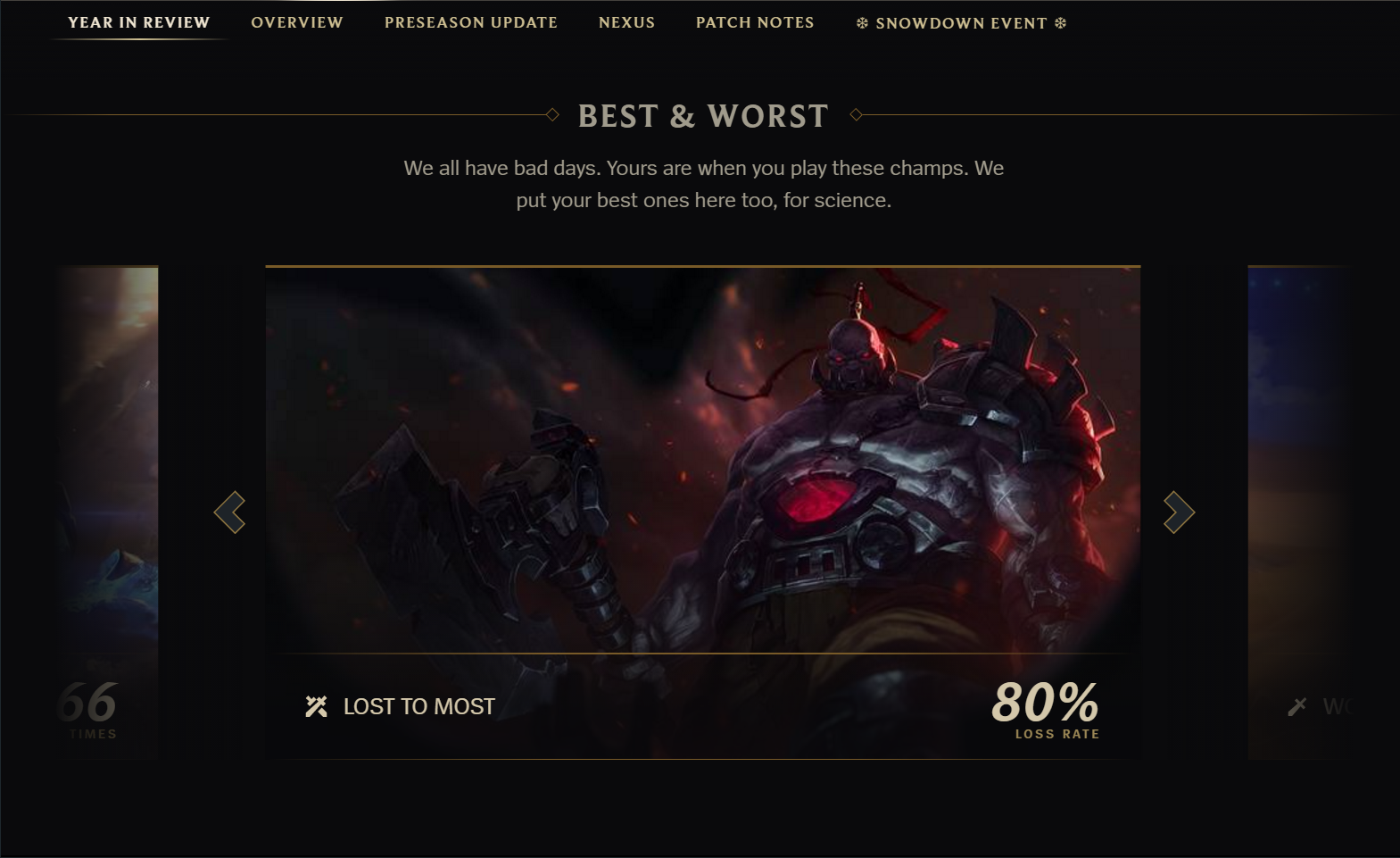 Every Online Game Should have a Year in Review Like League of